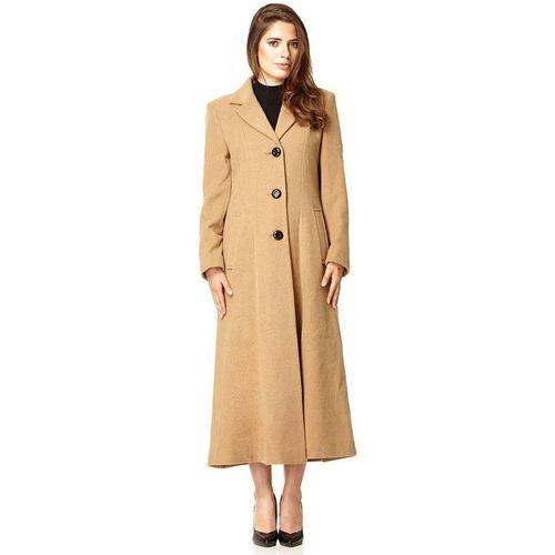 Clothing Women Parkas De La Creme Womens Long Smart Coat BEIGE