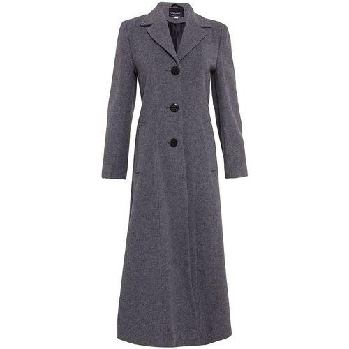 Clothing Women Coats De La Creme Double Single Fitted Long Coat grey