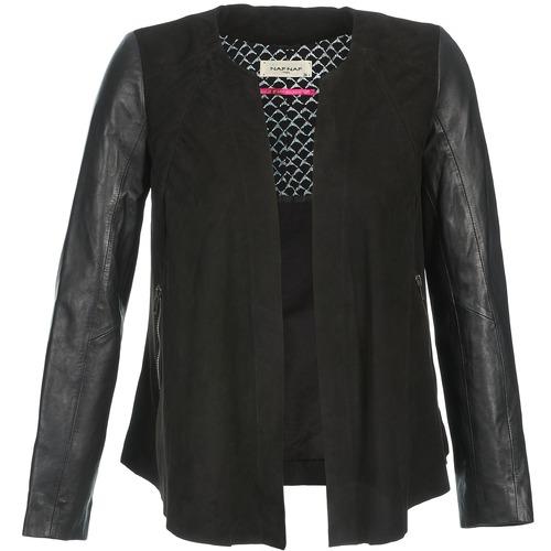 Clothing Women Leather jackets / Imitation leather Naf Naf COCOTTE Black