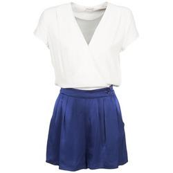 Clothing Women Jumpsuits / Dungarees Naf Naf KLOVIS White / Blue
