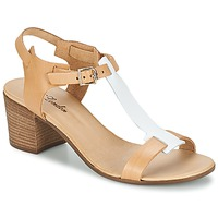 Shoes Women Sandals Betty London GANTOMI White / CAMEL