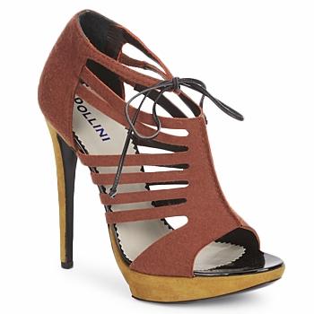 Shoes Women Sandals Pollini PA1602 Feltro ruggine