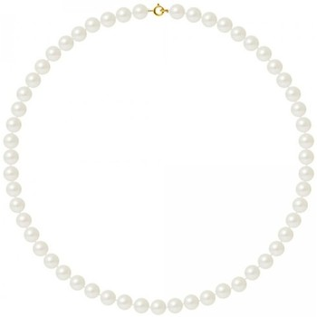 Watches Women Necklaces Blue Pearls AA White Freshwater Pearl Women Necklace and 750/1000 Yellow Gol Multicolored