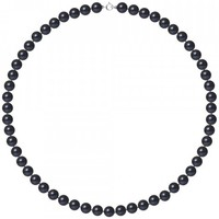 Watches Women Necklaces Blue Pearls AA Black Freshwater Pearl Women Necklace and 750/1000 White Gold Multicolored