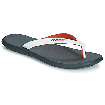 Shoes Men Flip flops Rider R1 Black / White / Red