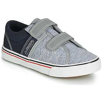 Shoes Boy Low top trainers Kappa CALEXI V Grey / Marine