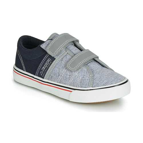Shoes Boy Low top trainers Kappa CALEXI V Grey / Marine