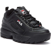 Shoes Women Fitness / Training Fila Disruptor II Premium Black / White /  Red Trainers Black