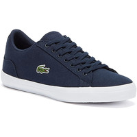 Shoes Men Low top trainers Lacoste Mens Navy Lerond BL 2 CAM Trainers Navy