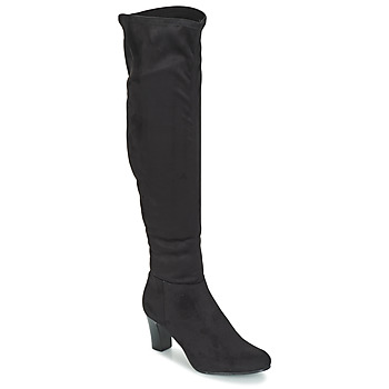 Shoes Women Thigh boots André PRISCA Black