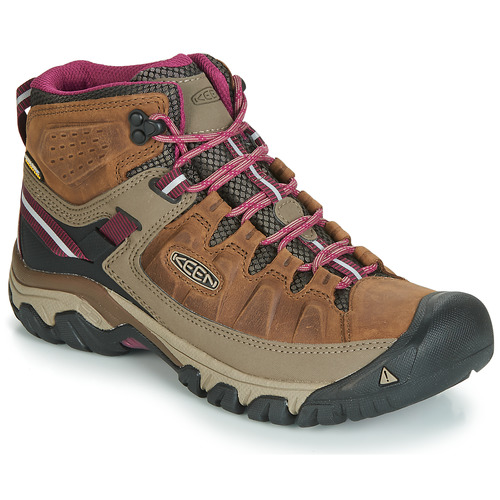 Shoes Women Walking shoes Keen TARGHEE III MID WP Brown / Pink