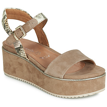 Shoes Women Sandals Tamaris SANSA Taupe