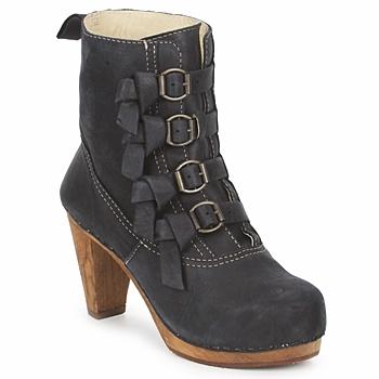 Shoes Women Ankle boots Sanita ELM CONE Black