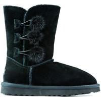 Shoes Children Mid boots Oca Loca Boots Oca Loca Pompon BLACK