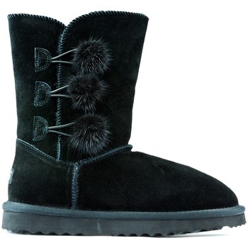 Shoes Children Mid boots Oca Loca Boots Oca Loca Pompon BLACK