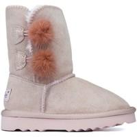 Shoes Children Mid boots Oca Loca Boots Oca Loca Pompon Rose PINK