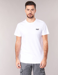 Clothing Men short-sleeved t-shirts Superdry ORANGE LABEL VINTAGE EMB TEE White