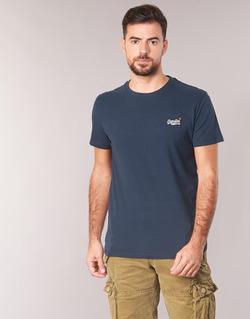 Clothing Men short-sleeved t-shirts Superdry ORANGE LABEL VINTAGE EMB TEE Marine