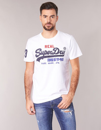 Clothing Men Short-sleeved t-shirts Superdry VINTAGE LOGO TRI TEE White