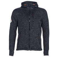 Clothing Men Sweaters Superdry STORM INTERNATIONAL ZIPHOOD Black