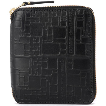 Bags Women Wallets Comme Des Garcons Comme Des Garçons black printed leather wallet Black