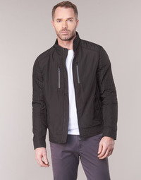 Clothing Men Jackets Geox TIRPIRALE Black