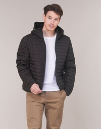 Clothing Men Duffel coats Geox TIRPIRUNE Black