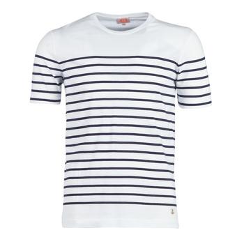 Clothing Men short-sleeved t-shirts Armor Lux YAYALOUT White / Marine