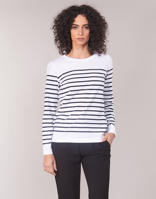 Clothing Women Long sleeved tee-shirts Armor Lux YARIL White / Marine