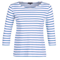 Clothing Women Long sleeved tee-shirts Armor Lux YAYAROULE White / Blue