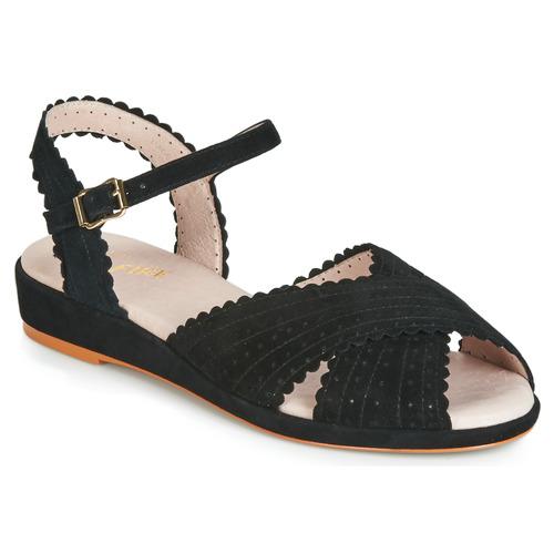 Shoes Women Sandals Miss L'Fire BRIGITTE Black