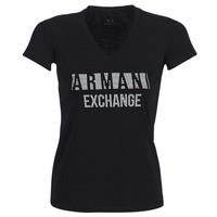 Clothing Women short-sleeved t-shirts Armani Exchange HELBATA Black