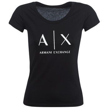 Clothing Women short-sleeved t-shirts Armani Exchange HELBATANTE Black