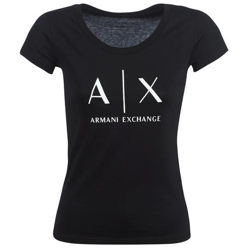 Clothing Women short-sleeved t-shirts Armani Exchange HELBATANTE Black