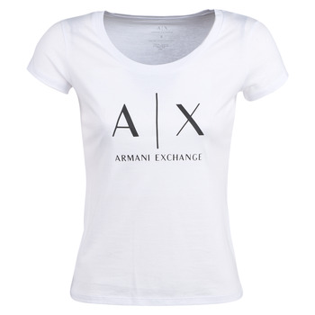 Clothing Women short-sleeved t-shirts Armani Exchange HELIAK White