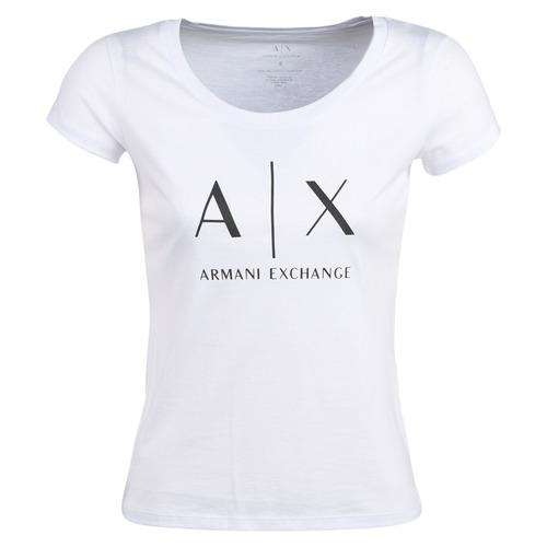 Clothing Women Short-sleeved t-shirts Armani Exchange HELIAK White