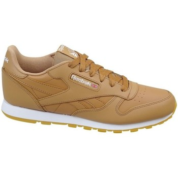 Shoes Children Low top trainers Reebok Sport Classic Leather Soft Brown