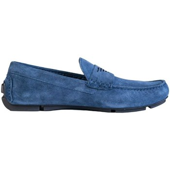 Shoes Men Loafers Armani Driving Shoes X4B113 XF188 blue
