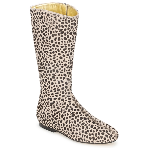 Shoes Women High boots French Sole PATCH Leopard