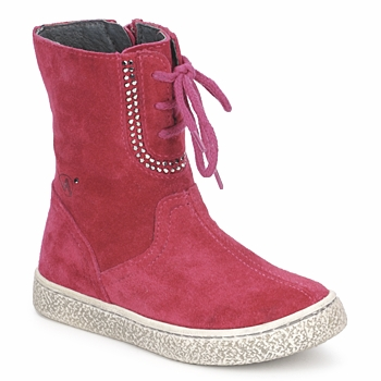 Shoes Girl Mid boots Naturino VELOUR Raspberry
