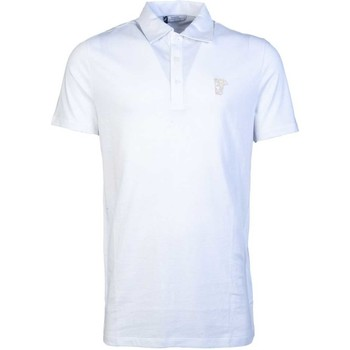Clothing Men short-sleeved polo shirts Versace Polo Shirts V800708 VJ00180 white