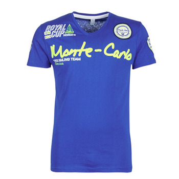 Clothing Men short-sleeved t-shirts Geographical Norway JARO Blue
