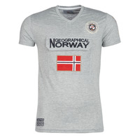 Clothing Men short-sleeved t-shirts Geographical Norway JAYFOUR Grey
