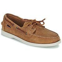 Shoes Men Boat shoes Sebago DOCKSIDES PORTLAND CRAZY H Brown