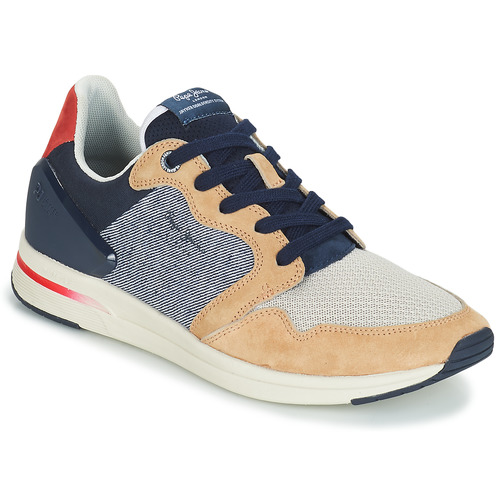 Shoes Men Low top trainers Pepe jeans JAYKER DUAL D LIMIT Blue / Beige