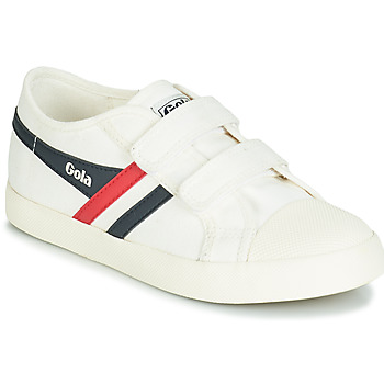 Shoes Children Low top trainers Gola COASTER VELCRO White / Blue / Red