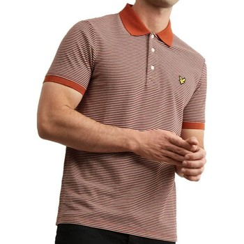 Clothing Men short-sleeved polo shirts Lyle & Scott Lyle And Scott Feeder Stripe Polo Shirt Brown