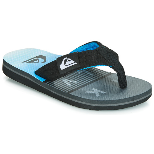 Shoes Children Flip flops Quiksilver MOLOKAI LAYBACK YTH B SNDL XKSB Black / Grey / Blue