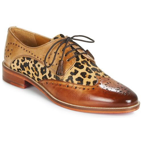 Shoes Women Derby Shoes Melvin & Hamilton BETTY-4 Brown / Leopard