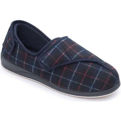 Shoes Men Slippers Padders Phillip 500 Mens Plaid Slippers blue